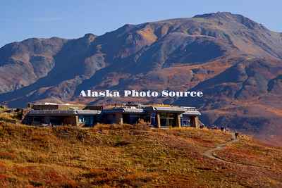 Alaska. Autumn view of Eielson National Park Visitor Center, in Denali Natl. Park.