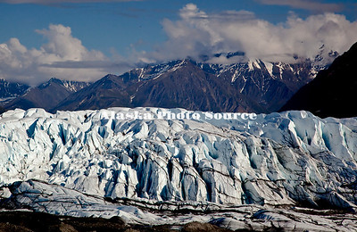 Alaska. Scenic view of Matanuska Glacier as seen form the access overloook just off  the Glenn Highway.