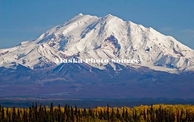 Alaska. Mt. Wrangell view from Gulkana on the Richardson Highway