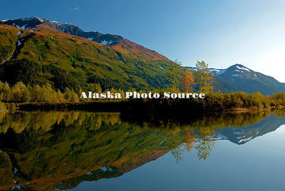 Alaska. Autumn Reflection in Chugach National Forest.