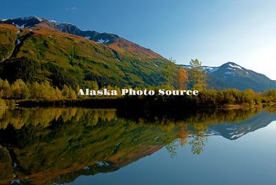 Alaska. Autumn Reflection in Chugach National Forest.