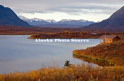 Alaska. Tangle Lakes in Autmn along the Denali Highway.
