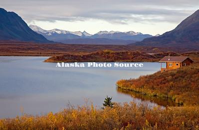 Alaska. Tangle Lakes in Autmn along the Denali Highway.