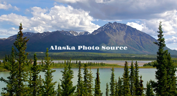 Alaska. A scenic view along the western portion of the Denali Hwy looking toward the Reindeer Hills.