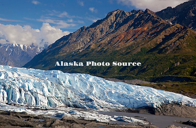 Alaska. Scenic view of Matanuska Glacier from the access overlook, off the Glenn Highway.