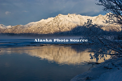 Knik River winter scene.