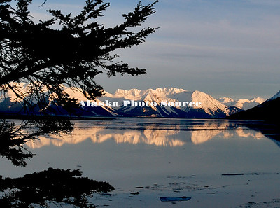 Winter Cook Inlet reflection