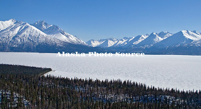 Alaska. Lake Clark National Park Winter Scene.