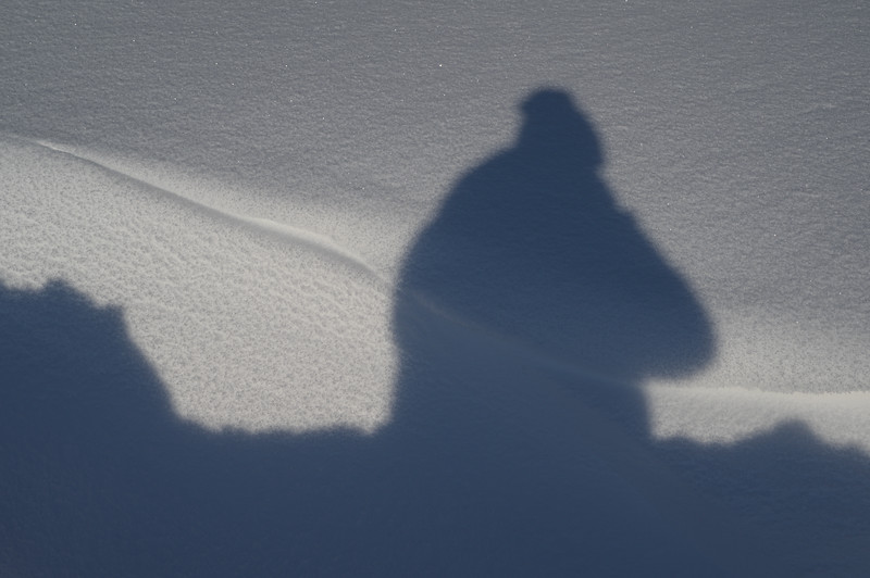 Winter shadow-selfie