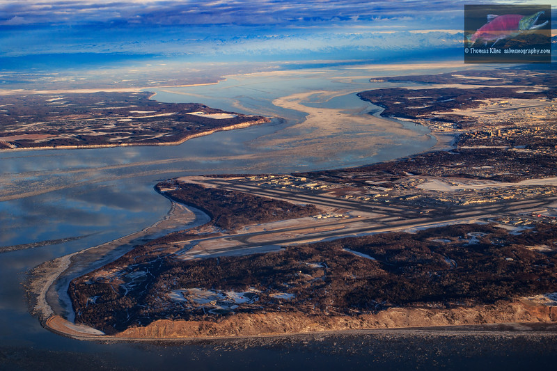 Over Anchorage and Knik Arm in winter