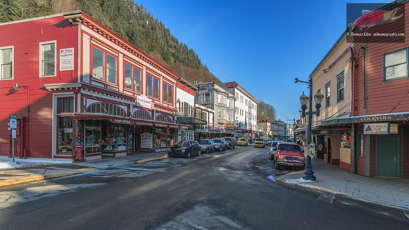 Juneau street in winter