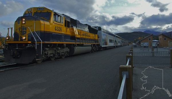 Alaska Railroad tourist Train