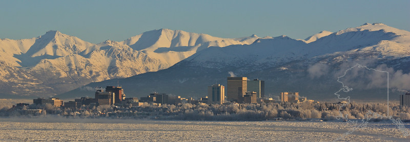 Anchorage looking from Earthquake Park.