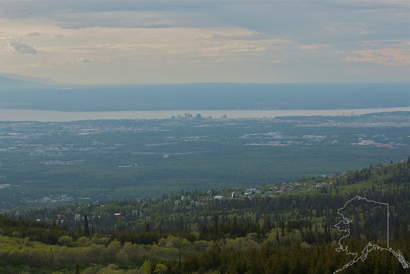 Anchorage from Flat Top Parking Lot.