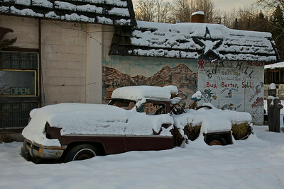 Boot hill. A lot of old cars and stuff here.