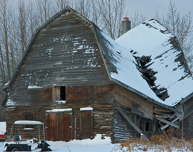 This old barn has just a bout had it. Way to many winters.