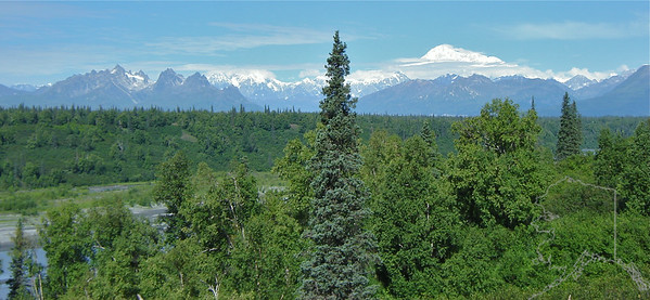 Mt. McKinley as seen from the Parks Highway.