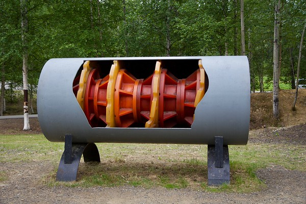 """There are over 124,000 heat pipes along the pipeline. These pipes transfer ground heat into the air to ensure soil remains stable and able to support the pipeline.  Thickness of the pipeline wall: .462 inches (466 miles) & .562 inches (334 miles).  The Trans Alaska Pipeline System cross the ranges of the Central Arctic heard on the North Slope and the Nelchina Herd in the Copper River Basin.  The pipeline ends at the Valdez Marine Terminal.  The pipeline is often referred to as """"TAPS"""" - an acronym for the Trans Alaska Pipeline System.  The Trans Alaska Pipeline System starts in Prudhoe Bay and stretches through rugged and beautiful terrain to Valdez, the northernmost ice-free point in America.  The Trans Alaska Pipeline System was designed and constructed to move oil from the North Slope of Alaska to the northern most ice-free port in Valdez, Alaska.  The Trans Alaska Pipeline System is protected by three separate leak detection systems that are monitored at the Operations Control Center in Anchorage.  Some 420 miles of the 800-mile-long pipeline is elevated on 78,000 vertical support members due to permafrost.  Telluric currents caused by the same phenomenon that generates the Northern Lights can be picked up by the pipeline and zinc/magnesium anodes. The anodes act like grounding rods to safety return these currents to the earth reducing the risk of damage to the pipeline.  The high point of the pipeline can be found at Atigun Pass with an elevation of 4,739 feet.  The Operations Control Center (OCC), located in Anchorage, monitors and controls pipeline and terminal operations 24/7.  Booster Pumps are located at all pump stations to move oil from the storage tanks to the mainline.  Cleaning pigs sweep the pipe of built up wax, water or other solids that precipitate out of the oil stream. They also prevent the built-up of corrosive environment and makes the oil easier to pump.  Crosses three mountain ranges and more than 30 major rivers and streams.  Grade, maximum"""