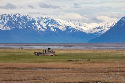 The old boat called the Nomad that's sitting out in the flats off of Knik-Goose Bay Rd. It was at one time owned by the late Joe Redington, father of the Iditarod.