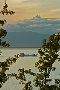A barge in Cook Inlet.