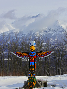 Totem pole out side of Palmer,