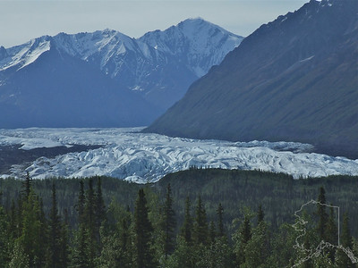 Matanuska Glacier from the road. Glenn Highway