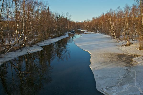 Cotton Wood Creek in Wasilla Alaska.