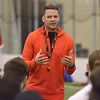 STAN HUDY/SHUDY@DIGITALFIRSTMEDIA.COM<br /> Albany Empire head coach Rob Keefe adresses the more than 200 athletes in attendence Saturday during the nationwide open tryouts at the SportsPlex of Halfmoon.