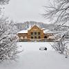 Albany's Park Playhouse in winter, Albany, NY