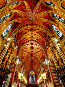 Details of the Cathedral Ceiling, Albany New York.