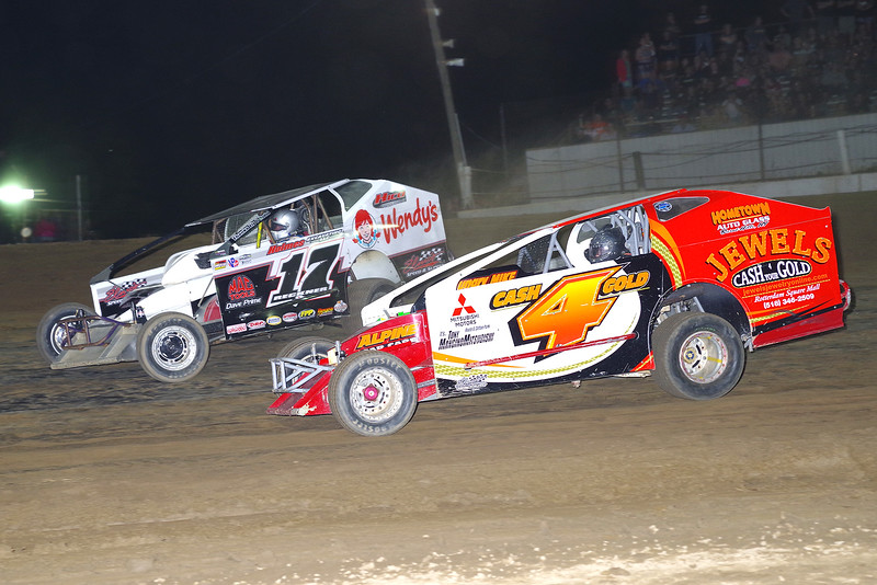 "Mod action Rich Ronca #4 & Elmo Reckner #17 at Albany-Saratoga Speedway June 29, courtesy Kustom Keepsakes, Mark Brown and Ryan Karabin. For reprints and more,visit <a href=""https://nepart.smugmug.com"">https://nepart.smugmug.com</a>"