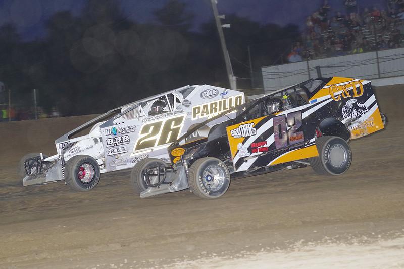 "Limited sportsman action David Boisclair #02 & Derek McGrew Jr #26 at Albany-Saratoga Speedway June 29, courtesy Kustom Keepsakes, Mark Brown and Ryan Karabin. For reprints and more,visit <a href=""https://nepart.smugmug.com"">https://nepart.smugmug.com</a>"