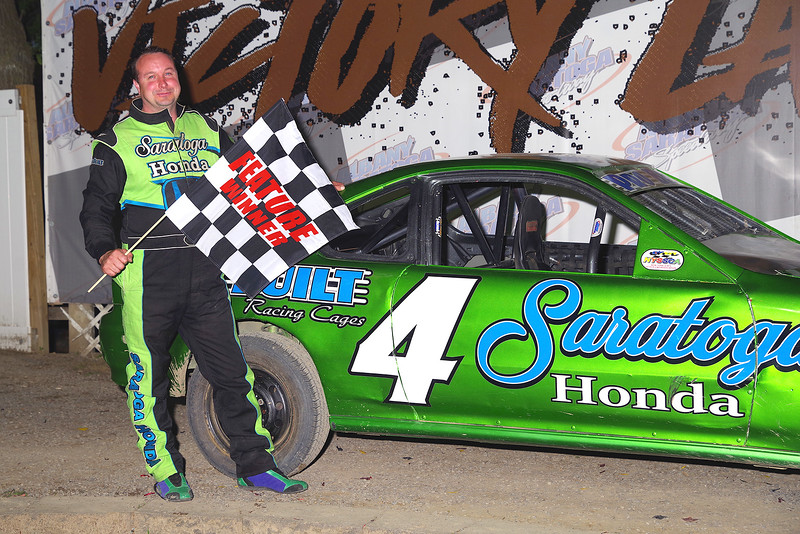 "Dual Cam 4 Cylinder winner Steve Ryan #4D at Albany-Saratoga Speedway June 29, courtesy Kustom Keepsakes, Mark Brown and Ryan Karabin. For reprints and more,visit <a href=""https://nepart.smugmug.com"">https://nepart.smugmug.com</a>"