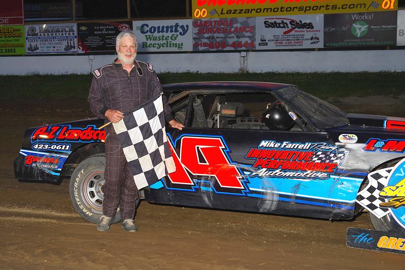 "Street stock winner Al Relyes #14 at Albany-Saratoga Speedway June 29, courtesy Kustom Keepsakes, Mark Brown and Ryan Karabin. For reprints and more,visit <a href=""https://nepart.smugmug.com"">https://nepart.smugmug.com</a>"