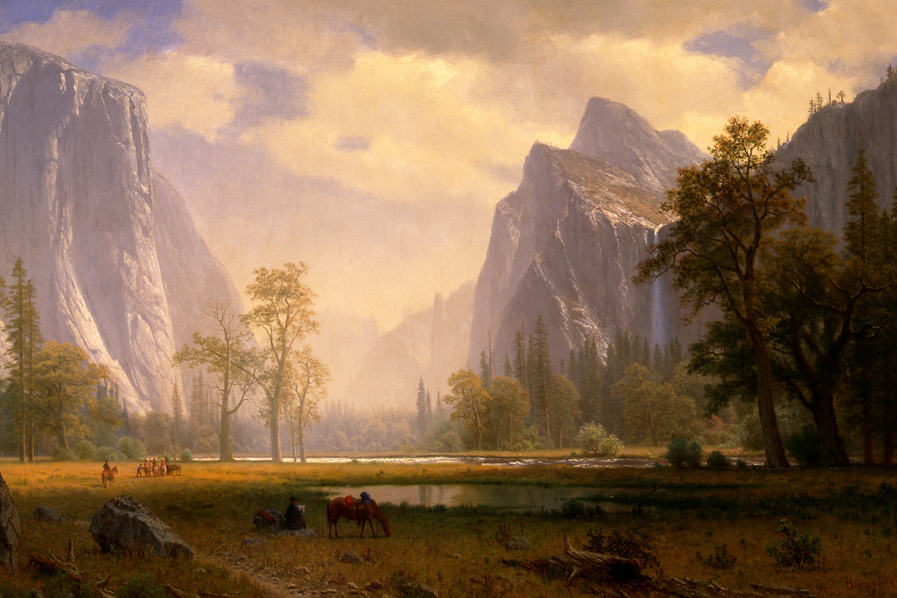 Looking Up the Yosemite Valley