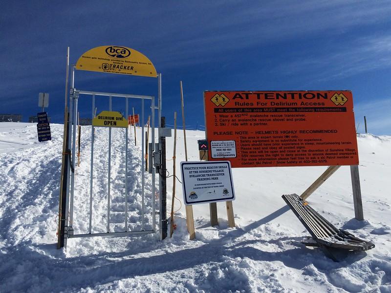 Delirium Dive Entrance, Sunshine Village, Banff National Park, Alberta, Canada