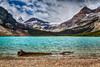 Bow Lake in Banff National Park, Alberta, Canada.