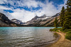 Bow Lake in Banff National Park, Alberta, Canada.