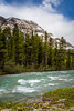 A Bow River scenic along the Icefields Parkway in Banff National Park, Alberta, Canada.