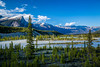 The Saskatchewan River Crossing along the Icefields Parkway in Banff National Park, Alberta, Canada.