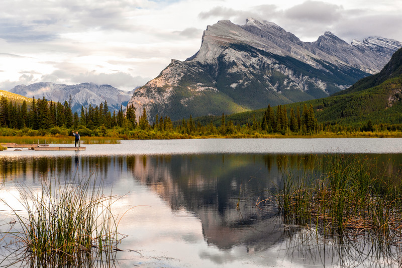 Almost Autumn, Vermillion Lakes and Mt. Rundle Reflections