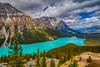 Peyto Lake along the Icefields Parkway in Banff National Park, Alberta, Canada.