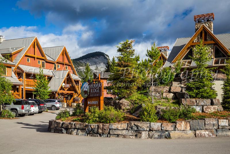 The Hidden Ridge Resort on Tunnel Mountain in Banff, Banff National Park, Alberta, Canada.