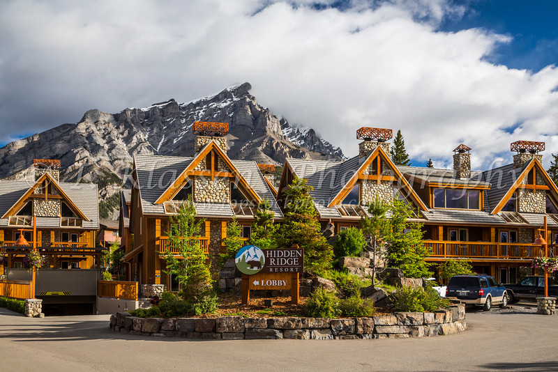The Hidden Ridge Resort on Tunnel Mountain in Banff, Banff National Park, Alberta, Canada.