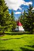 A teepee at the Banff Center Inspiring Creativity Campus in Banff, Banff National Park, Alberta, Canada.