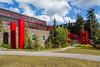 The Peter Lougheed building at the Banff Center Inspiring Creativity Campus in Banff, Banff National Park, Alberta, Canada.