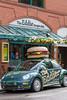 The Eddie Burger and Bar in downtown Banff, Banff National Park, Alberta, Canada.