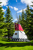 A teepee at the Banff Center Inspiring Creativity Campus in Banff, Banff National Park, Alberta, Canada.