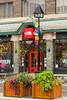 The Northface shop in downtown Banff, Banff National Park, Alberta, Canada.