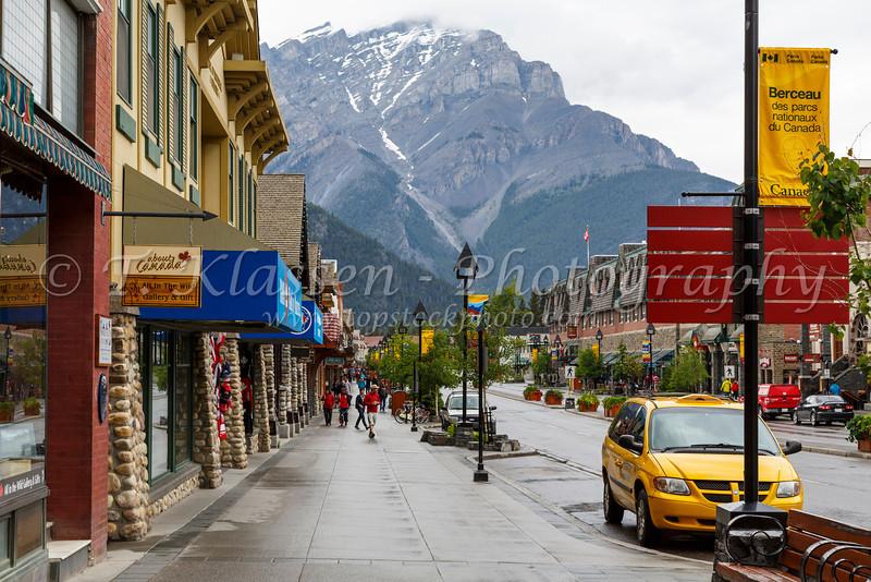Main Street Banff, Banff National Park, Alberta, Canada.